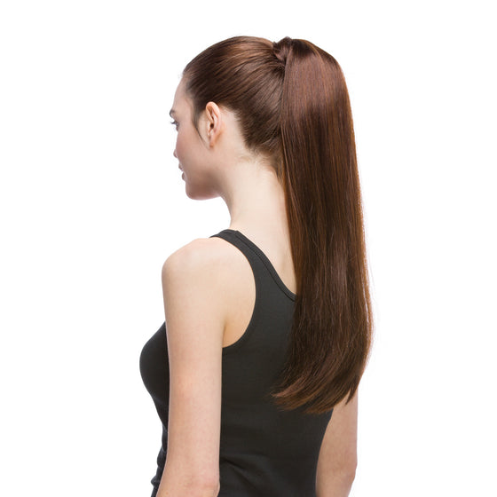 "GORGEOUS  Ponytail 120G 20"" Dark Brown (2)"