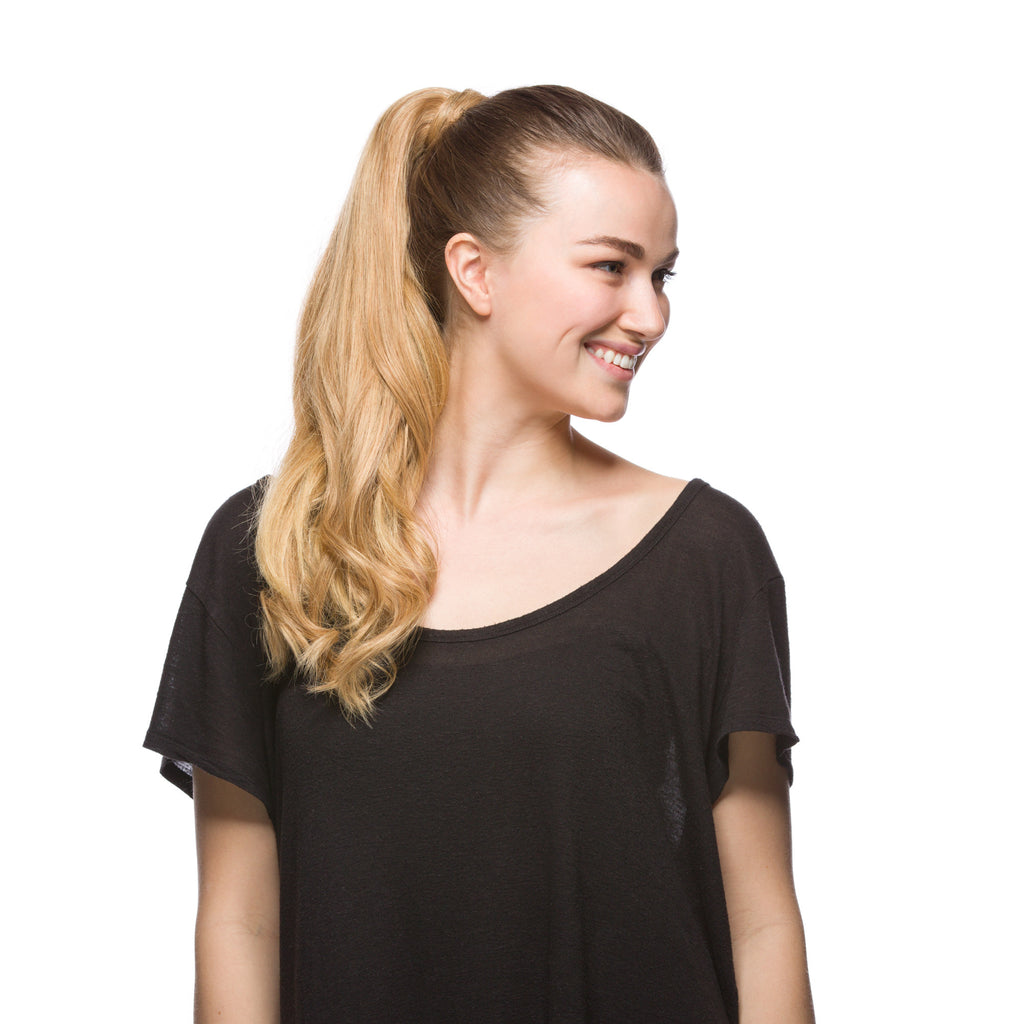 "GORGEOUS Ponytail 120G 20"" Light Golden Blonde (27)"