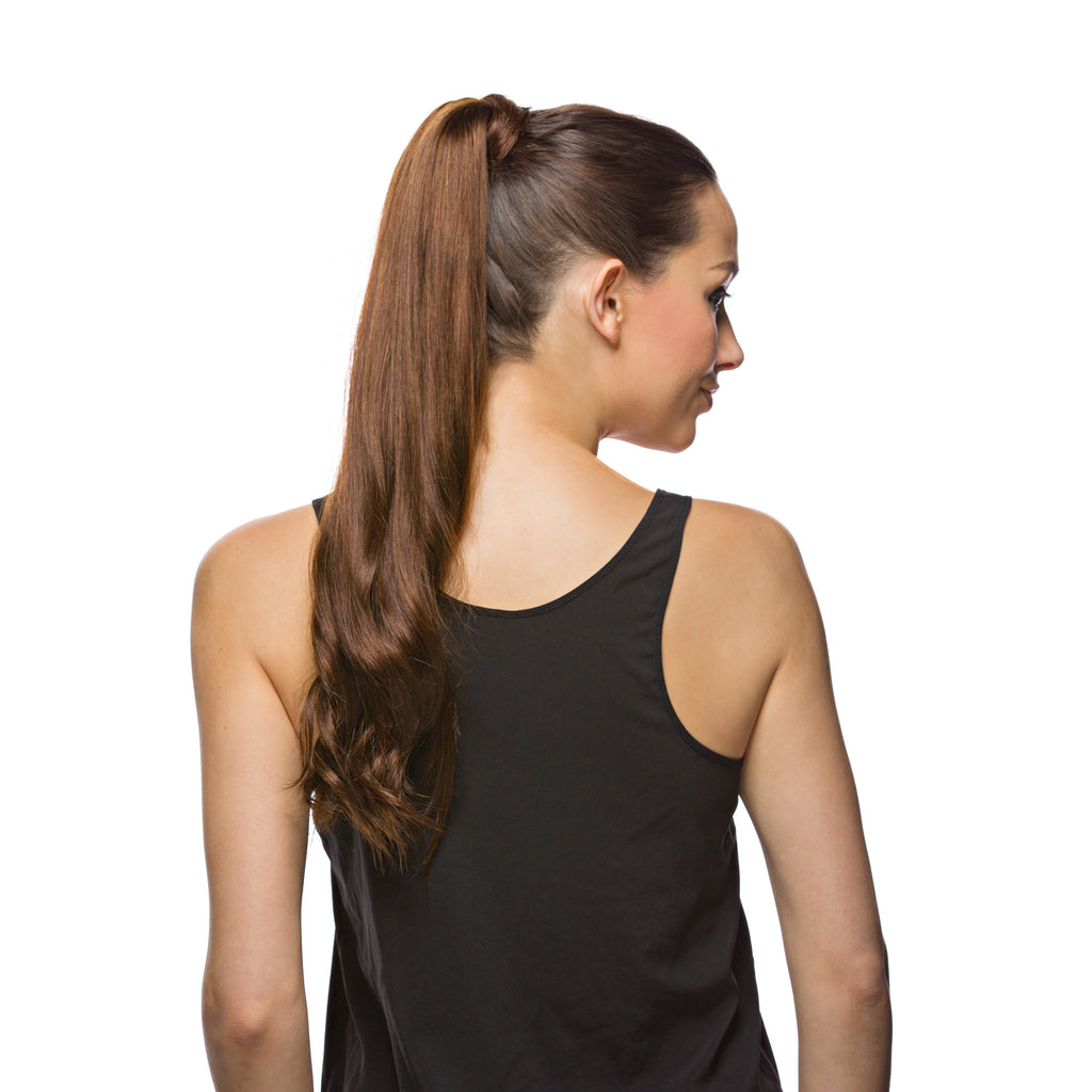 "GORGEOUS Ponytail 120G 20"" Chocolate Brown (4)"