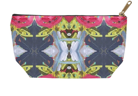 December Blooms Abstract Accessory Pouches