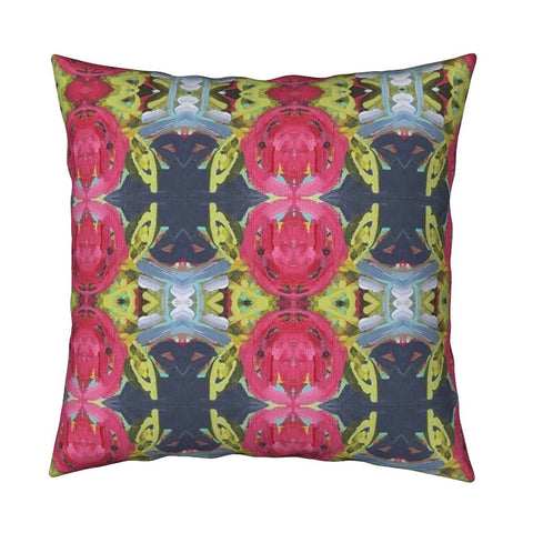 December Blooms Abstract Throw Pillow