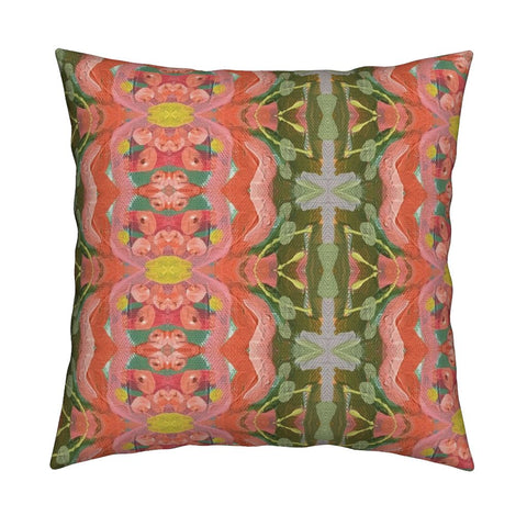 March Blooms Abstract Throw Pillow