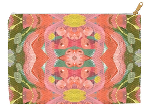 March Blooms Abstract Accessory Pouches