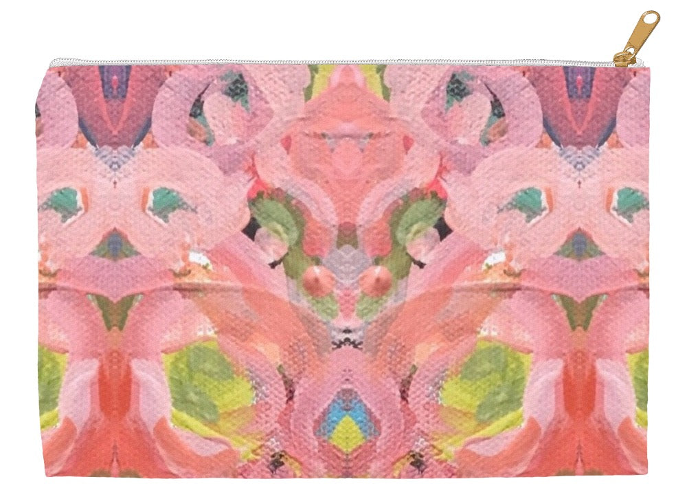 July Blooms Abstract Accessory Pouches