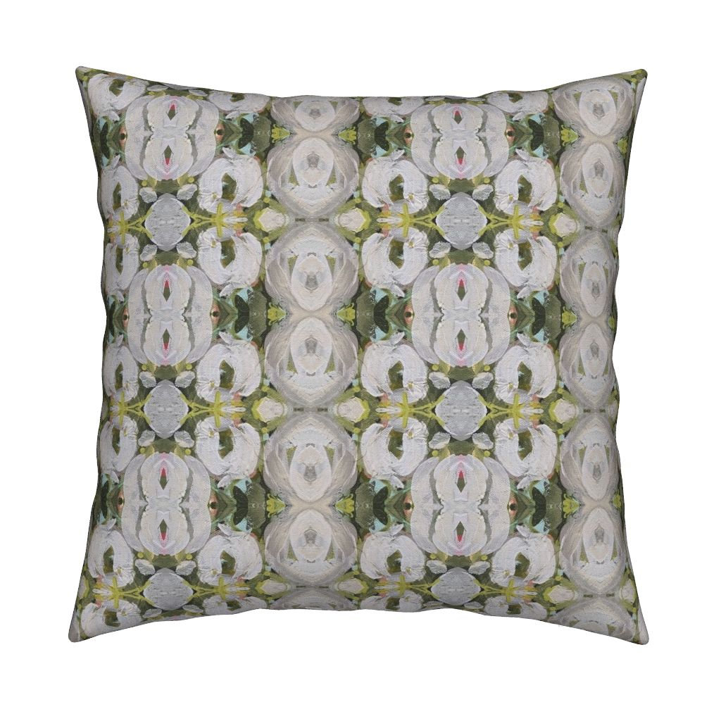 October Blooms Abstract Throw Pillow
