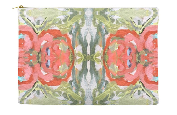 November Blooms Abstract Accessory Pouches