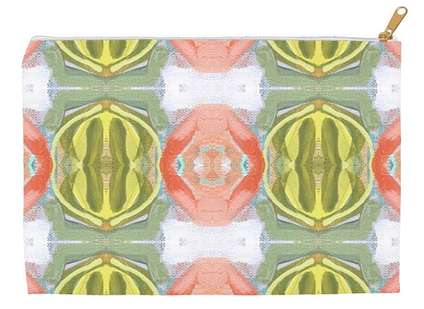 September Blooms Abstract Accessory Pouches