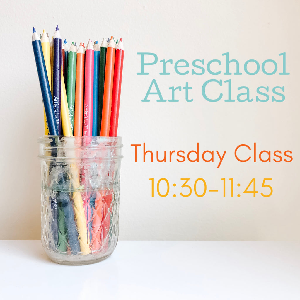 Preschool Art Class {Th: 10:30-11:45}