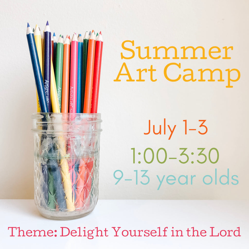 Art Camp {July 1-3//Afternoon Session//Age 9-13}