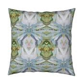 January Blooms Abstract Throw Pillow