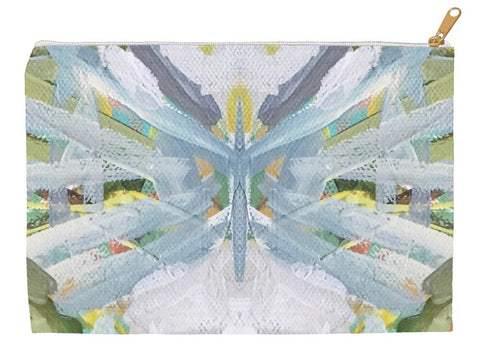 January Blooms Abstract Accessory Pouches