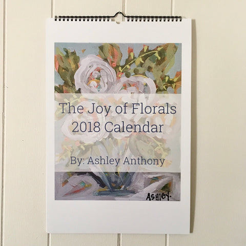 2018 Joy of Florals Wall Calendar