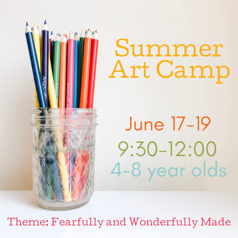 Art Camp {June 17-19//Morning Session//Age 4-8}