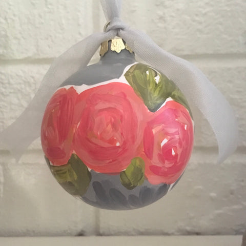 Ceramic Christmas Ornament {Holly Jolly}
