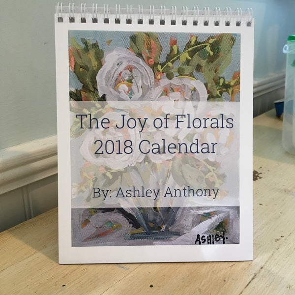 2018 Joy of Florals Desktop Calendar