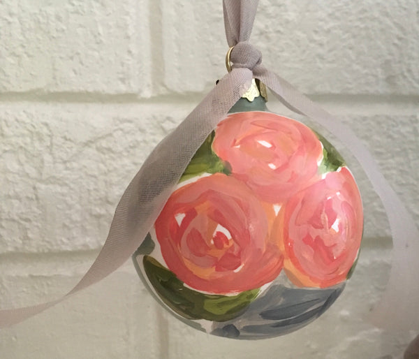Ceramic Christmas Ornament {Power Peach}