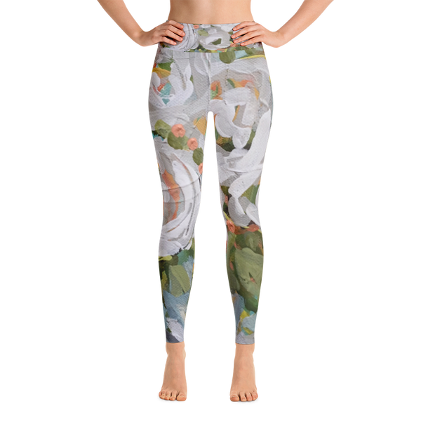 January Blooms Art Leggings