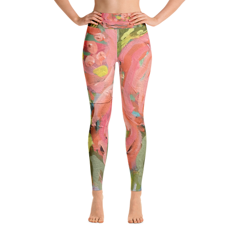 March Blooms Art Leggings