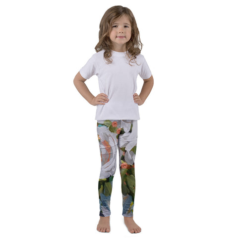 January Blooms Kids Art Leggings