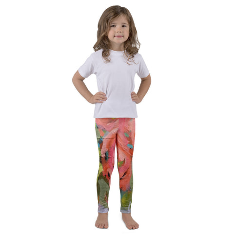 March Blooms Kids Art Leggings