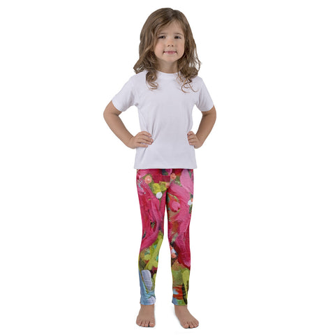 December Blooms Kids Art Leggings