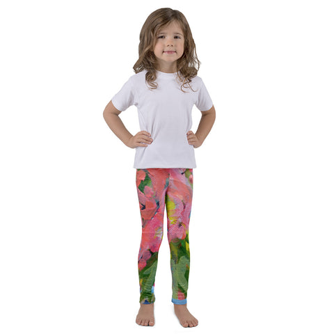 July Blooms Kids Art Leggings