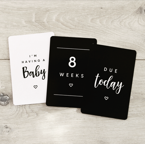 HEART pregnancy milestone cards
