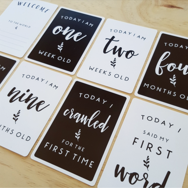 CLEARANCE + BABY MILESTONE CARDS | little blossom - Leni + co