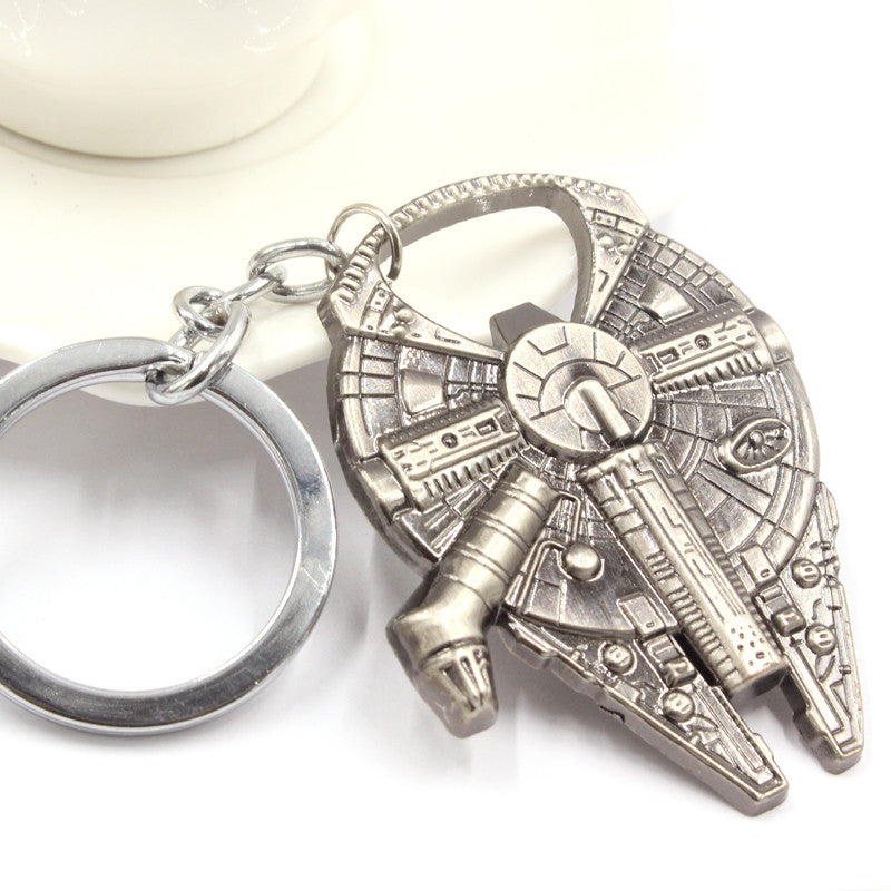 Free Shipping Star Wars Han Solo's Millennium Falcon ship barkey bottle opener Keychain