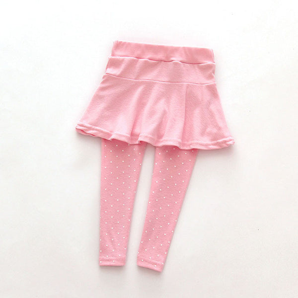 6Colors Toddler Cozy Pantskirt Girl Wool Culotte Kids Child Legging Trousers