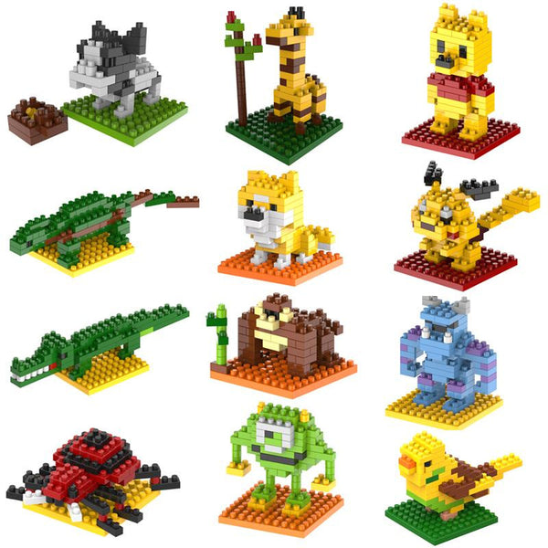 2015 New Gift smae as LOZ Building Blocks small animal Minion Mario Transformation Minifigures Cartoon Characters 3D Bricks Toys