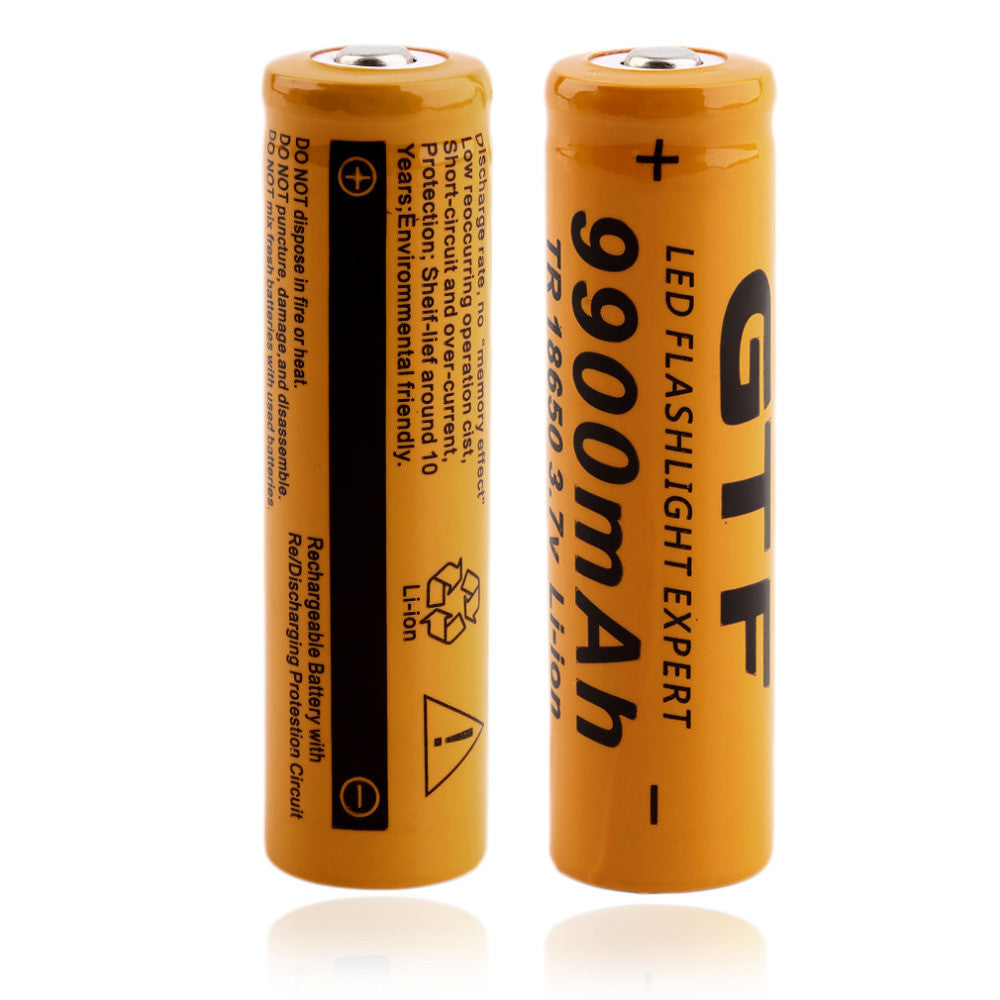 2 pcs TR 18650 3.7V 9900mAh Rechargeable Li-ion Battery for LED Flashlight , Newest  And Hot Sale 2016!!!!