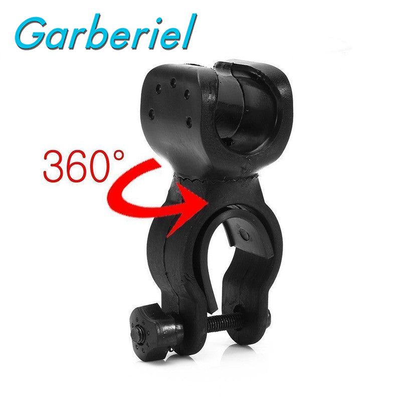 Hot Sell Bike Accessories 360 Swivel Bicycle Bike Clip Light Luces Led Bicicleta LED Flashlight Mount Bracket Holder Torch Clip