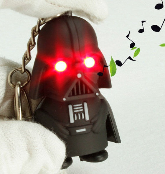 Classic Film Star Wars The Force Awakens Led Flashlight Keychain Darth Vader E Yoda Anakin Skywalker Figure Key King Zpswbs