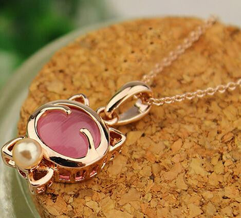 YANA  Jewelry Fashion  Gold Plated Cat Statement Necklace For Woman 2015 New necklaces & pendants Sale N12