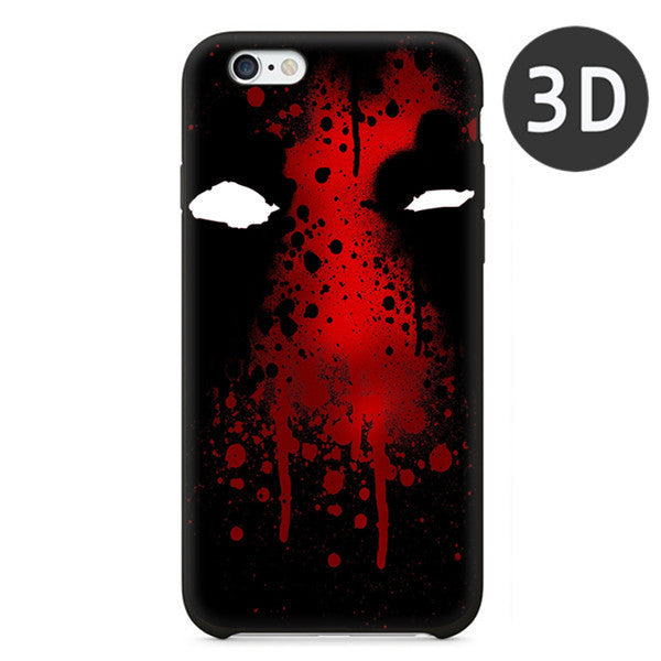 2016 Hot Selling Deadpool Black Silicone Case For iPhone 5 5S 6 6S 6Plus
