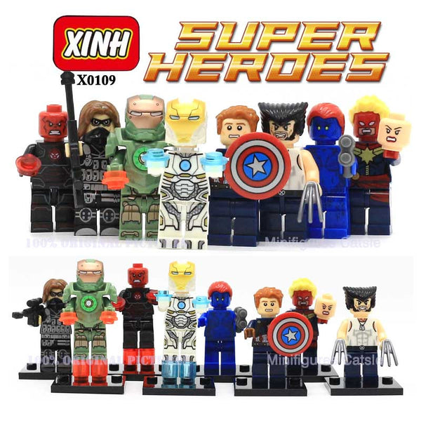 Marvel The Avengers 2 Age of Ultron Action Civil War Minifigures Hulk Iran Man Captain America Building Blocks Kid's Gift