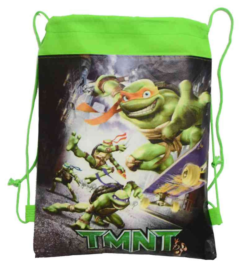 1pic Teenage Mutant Ninja Turtles Children School Bags Turtles Kids Drawstring Backpack& Bag For boys&girls 4 Colors Optional