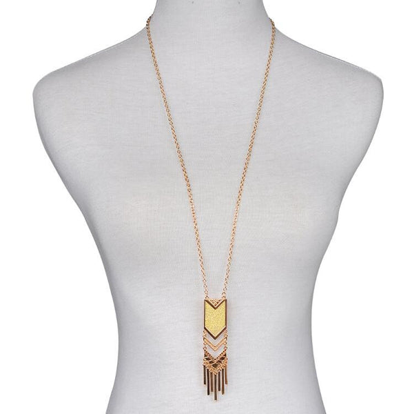 Statement necklace Tassel Pendant Necklace Gold Silver Plated Bohemia collares mujer Colar Fashion Collier for Women 2016