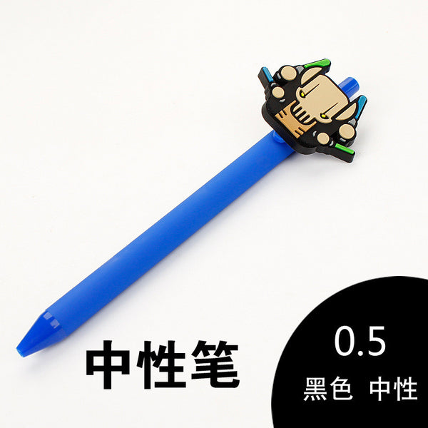 Star Wars Gel Pens Kawaii 0.5mm Black Pen Starwars for Kid Gift Yoda White soldiers C3PO stabilo Papelaria Stationery