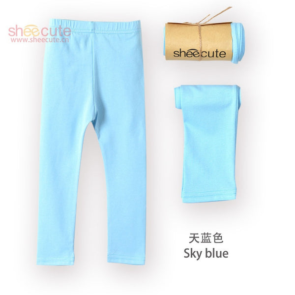 girl pants new arrive Candy color  girls leggings Toddler classic Leggings 2-13Y children trousers baby  kids leggings