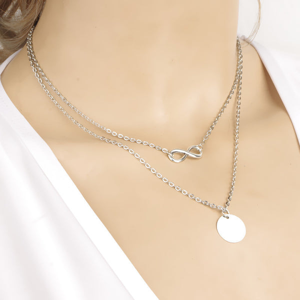Delicate Layered Spike Necklace Pendant Personalized 18K Gold silver Filled Long Necklces Colares Longo Feminino Bijoux