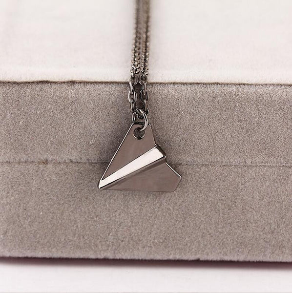 One Direction Band Harry Styles Gold Paper Airplane Pendant Necklace Men Women Jewelry Chain Collares Choker Necklaces