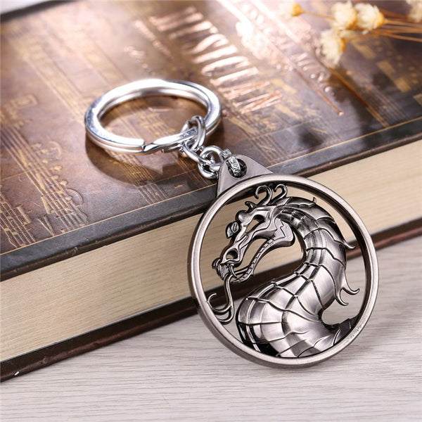Gragon Keychain Hot Game Mortal Kombat Key Ring Metal Key Holder For Gift Chaveiro Key chain Jewelry for cars