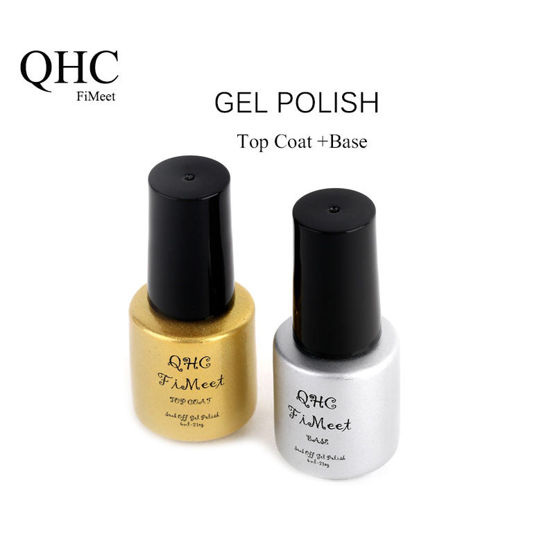 QHC FiMeet Top Coat+Base Coat Kit Gel Nail Polish Gorgeous Colors UV Gel Nail Polish Long-lastting up to 30 Days