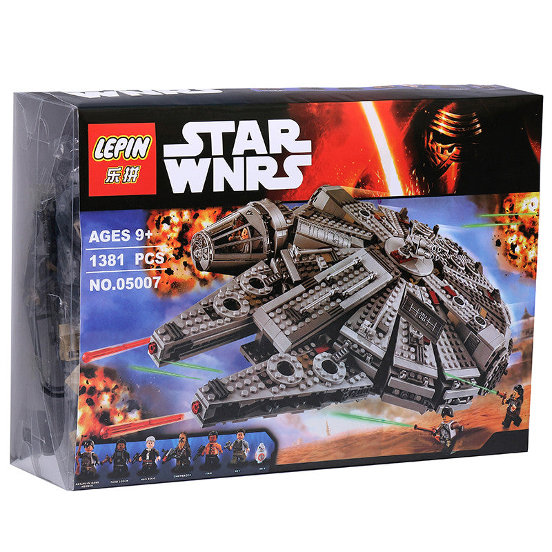 Millennium Falcon 1 set Building Blocks Star Wars The Force Awakens Model Kits Rey BB-8 MiniFigures box Compatible with 75105