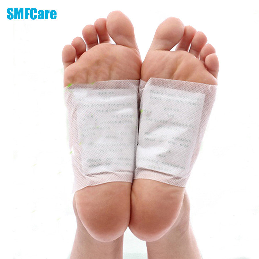 2pcs Patches+2pcs Adhesives Charcoal Detox Foot Pads Patches with Natural Plant Quintessence Kits Foot Care Health B010