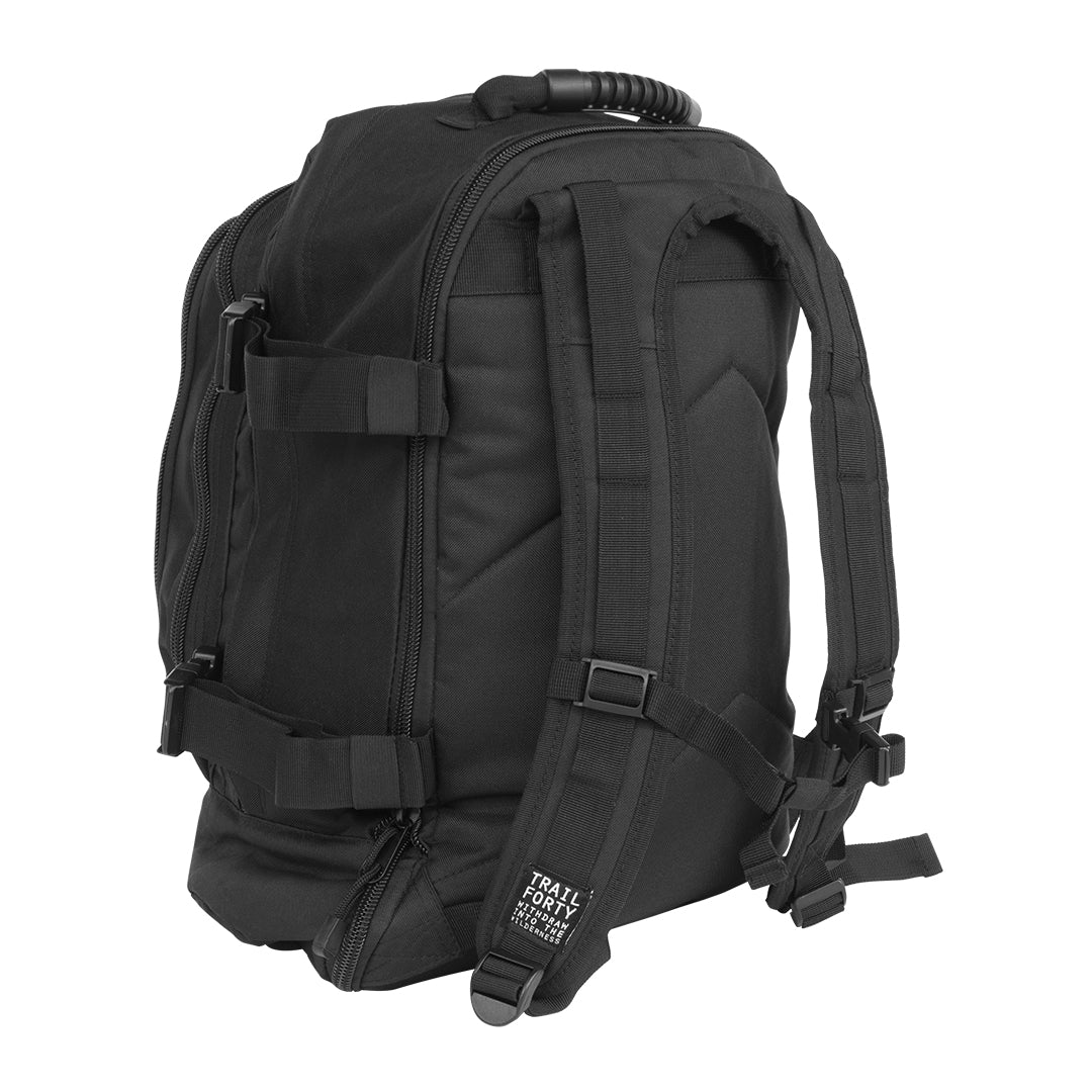 TRAIL FORTY | ETE | Backpack | Black | TRAIL FORTY | WITHDRAW INTO THE WILDERNESS | Luke 5:16 | TRAILFORTY.com