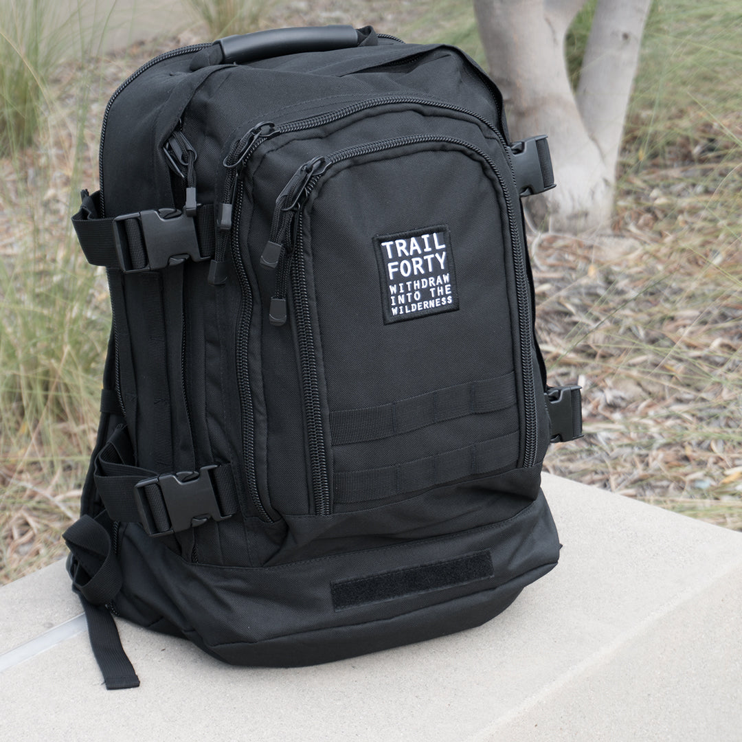 TRAIL FORTY | ETE | Backpack | Black - TRAILFORTY - TRAILFORTY.com