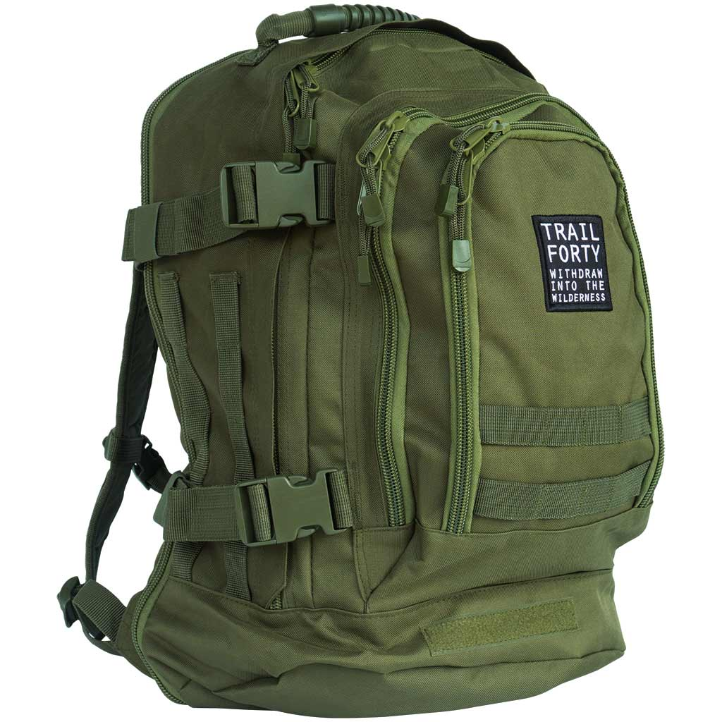 TRAIL FORTY | ETE | Backpack | Green | TRAIL FORTY | WITHDRAW INTO THE WILDERNESS | Luke 5:16 | TRAILFORTY.com